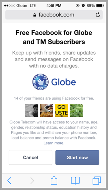Free Facebook until February 14 for Globe Subscribers ...